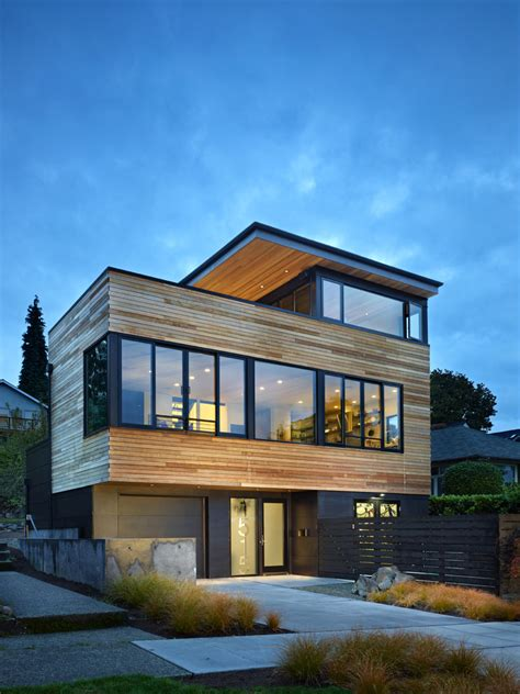 modern exterior cycle house design by chadbourne doss architects