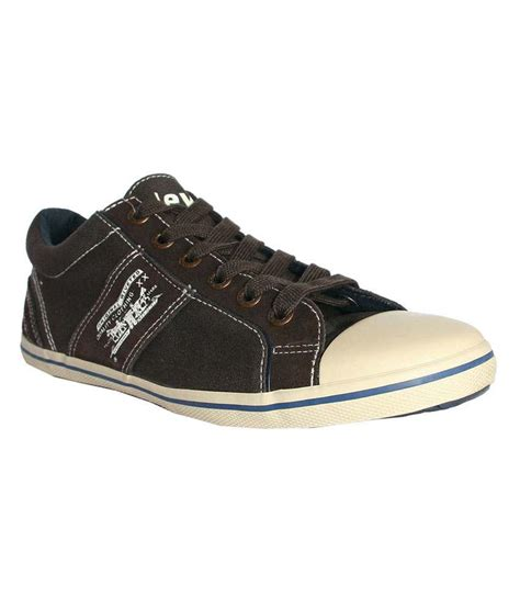 levi s brown canvas shoes buy levi s brown canvas shoes