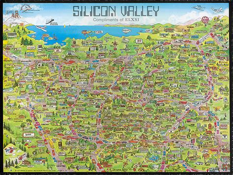silicon valley map silicon valley map 1983 102645214 computer history museum