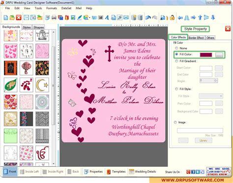wedding card software design wedding invitations free software custom invitations