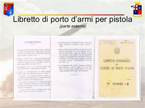 libretto personale per licenza di porto di fucile 04 armi