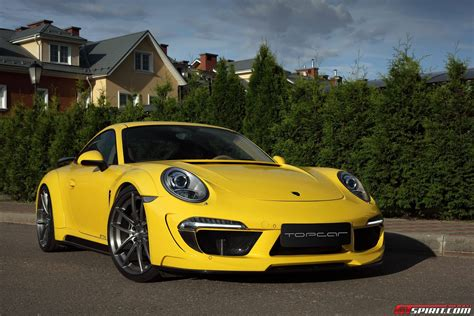 yellow porsche yellow porsche 991 carrera stinger by topcar gtspirit