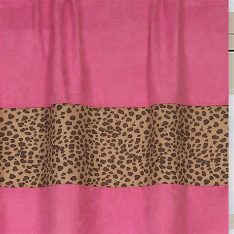 pink cheetah print curtains cheetah print hot pink window curtains drapes set of 2