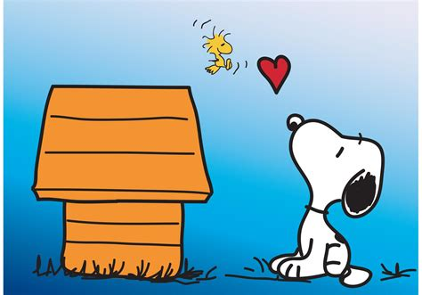 snoopy vector card download free vector art stock