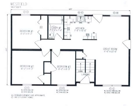 westfield floor plan 28x40 house plans http www heritagehomecenter com