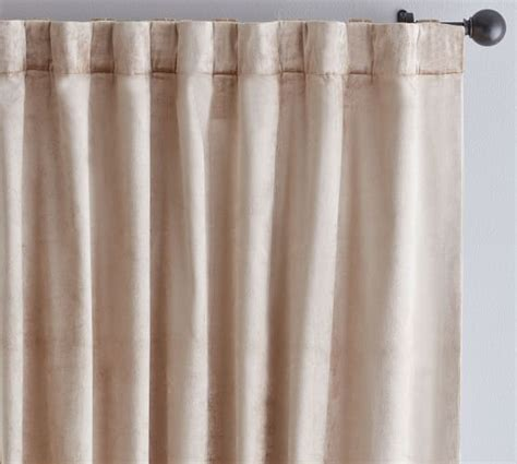 velvet drapes pottery barn shiny velvet drape pottery barn