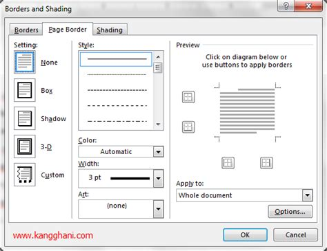 membuat border atau bingkai halaman di word 2010 panduan lengkap cara membuat border di ms word