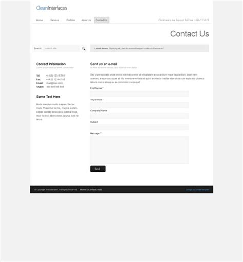 template xhtml cleaninterface xhtml template corporate css templates