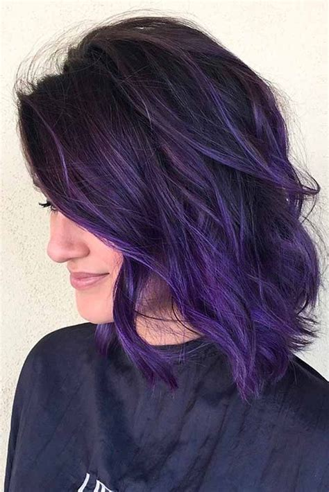 Purple And Black Hairstyles by Haircut And Color Ideas Hairstyles 2016 2017