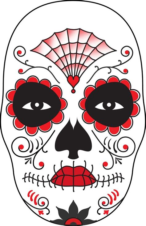day of the dead skull template dia de costumes and the dead on
