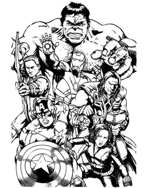 free the avenger coloring pages