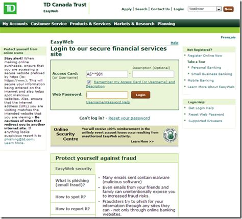 Td Bank Launches Dynamic Login Page Finovate