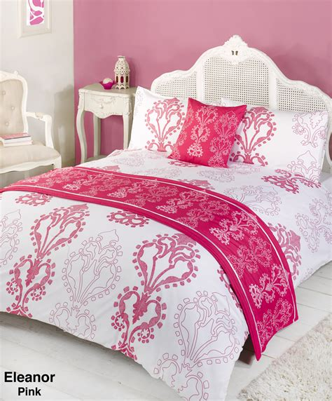 duvet quilt bedding bed in a bag pink single double king