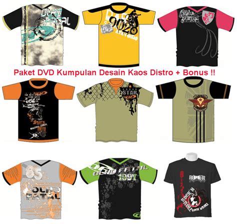 contoh desain logo kaos distro paket dvd 10 000 template desain kaos editable terbaru