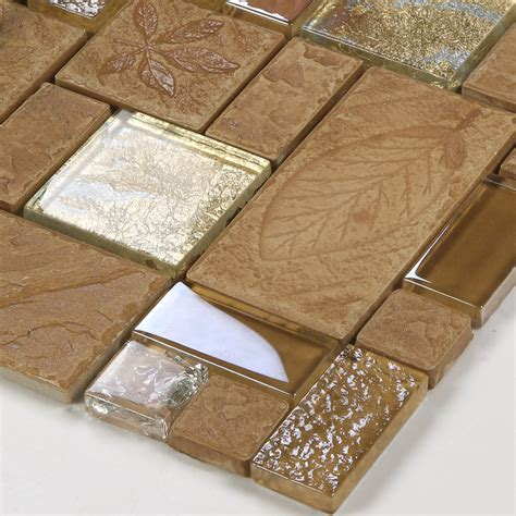 Red Kitchen Tile Backsplash - wholesale porcelain glass tile wall backsplash tan crystal art strip design mosaic tiles kitchen