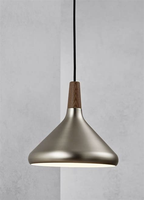 Brushed Steel Pendant Light Brushed Steel Pendant Light Brushed Steel Walnut Wood Pendant Nautical Pendant Light In