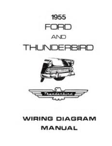 ford 1955 customline fairlaine thunderbird wiring diagram manual ebay