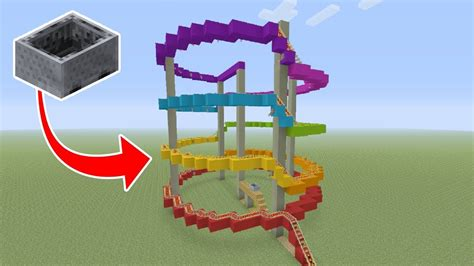 theme park names minecraft minecraft tutorial how to make a roller coaster quot theme
