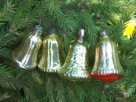 Tree Decorations Bells by Gold Silver Bells Baubles Vintage Ornaments