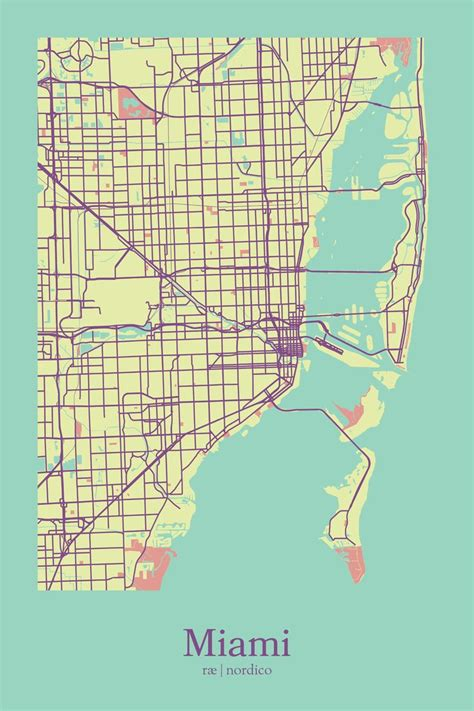 miami map usa 1178 best cartographic design images on city