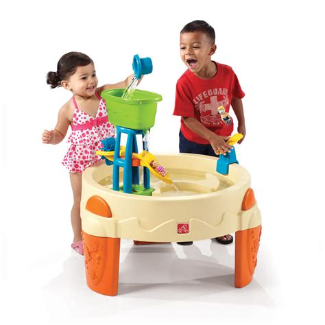 water table for 1 year big splash waterpark sand water play step2