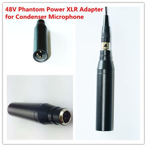 condenser microphone needs phantom power aliexpress buy 48v phantom power adaptor for condenser microphone ta3f 3pin mini xlr to