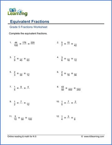 grade 5 worksheets converting fractions to mixed numbers