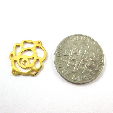 wholesale gold plated sterling silver connector charm