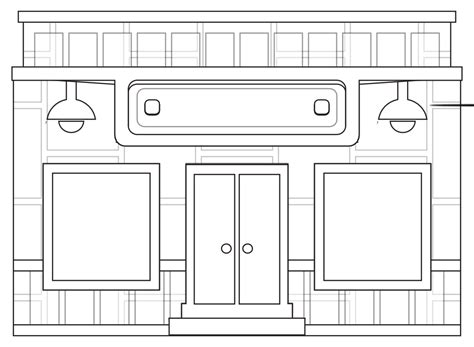 Store Coloring Page 187 store fronts shop 6 black white line coloring book colouring coloring book colouring sheet
