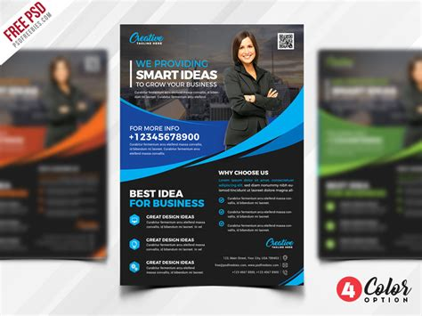 Free Multipurpose Flyer Psd Template Set Psdfreebies Com Multimedia Templates Free