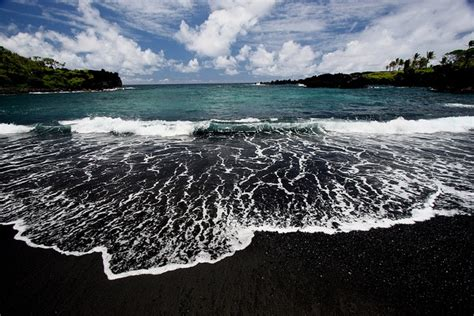black sand beaches black sand beach paradis