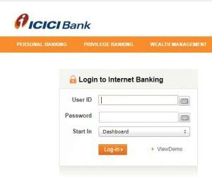 icici bank login india industrial credit and investment corporation of india