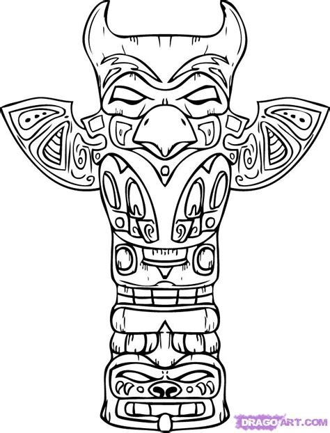 Totem Pole Coloring Pages Totem Pole Colouring Pages