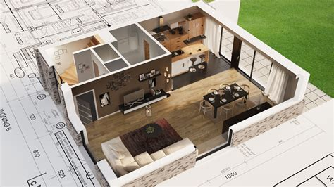 Make A Floor Plan Of Your House 3d floor plan rendering camera or plane clipping