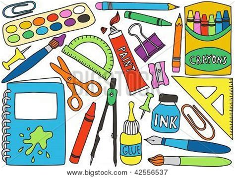 imagenes de utiles escolares con los nombres en ingles dibujos utiles escolares a color imagui