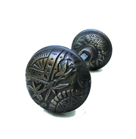 Arts And Crafts Door Knobs by Vintage Brass Leaf Arts And Crafts Style Door
