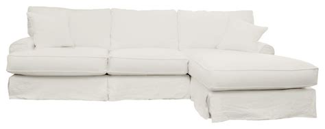 white linen slipcover sofa hartford slipcover sectional right 120 quot sofa white linen