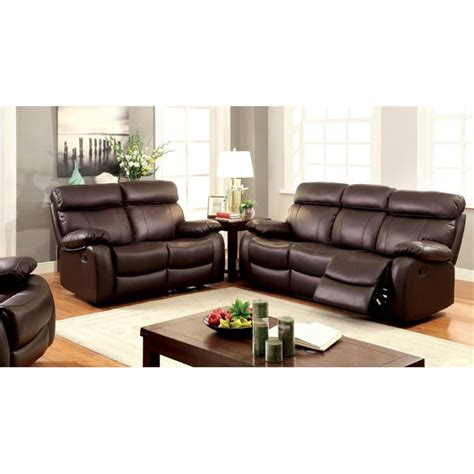 3 piece leather sofa set furniture of america marrona 3 piece grain leather