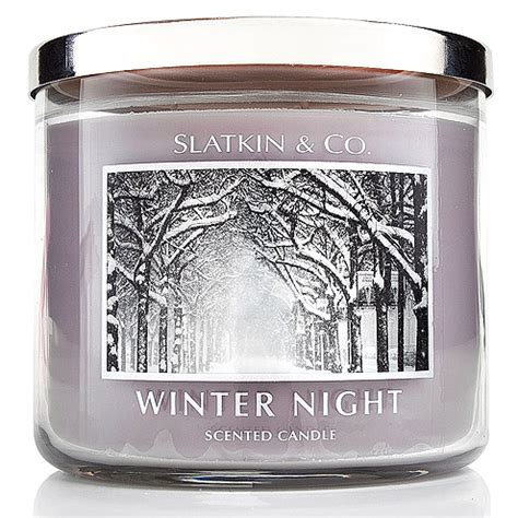 beauty picks slatkin co winter night scented candle