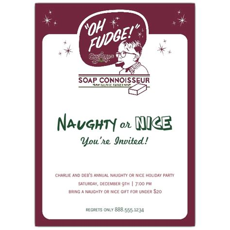naughty or nice holiday party invitations paperstyle