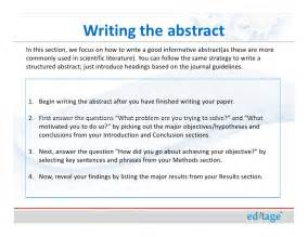Abstract Essay Writing by How To Write An Effective Title And Abstract And Choose Appropriate K
