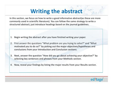 How To Make Paper Presentation Abstract - how to write an effective title and abstract and choose