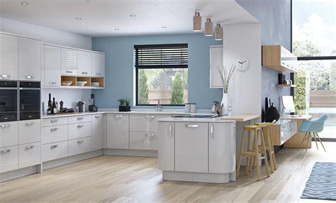 Wonderful Modern Kitchen Colours #2: Modern-contemporary-zola-gloss-light-grey-kitchen-hero-A.jpg
