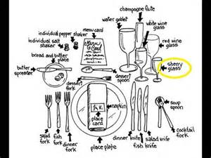 Proper Table Setting For Formal Dinner - formal dining place setting explained youtube