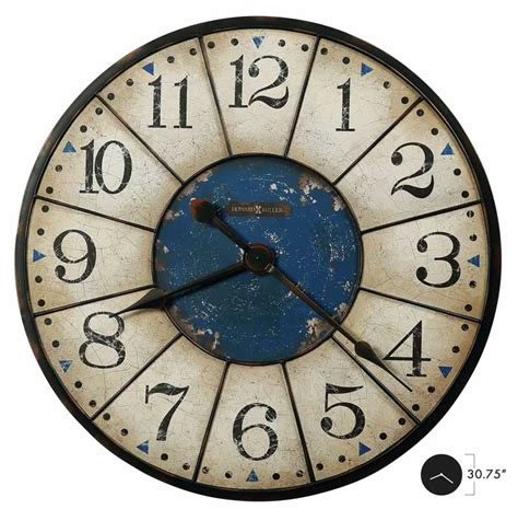 large wall clocks 625567 balto howard miller oversized vintage worn blue