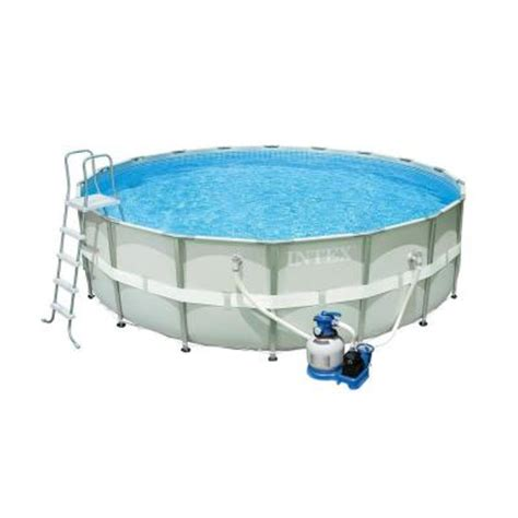 Home Depot Pool by Intex 18 Ft 52 In Ultra Frame Above Ground