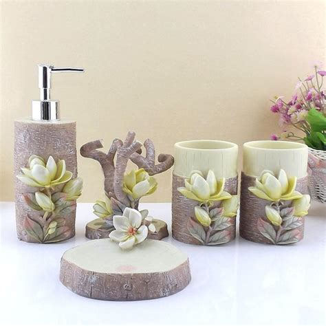Bathroom Decoration Sets by 5pcs Resin Creative Bathroom Sets Toothbrush Holder