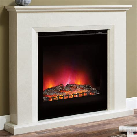 Marble Electric Fireplace Suites by Elgin Lorento Marble Electric Fireplace Suite