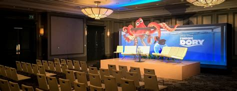 Degeneres Stage Floor by Finding Dory Press Launch On Event Production Co
