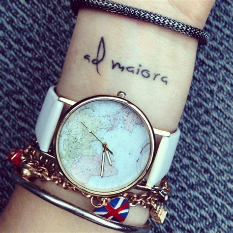 latin wrist tattoo quotes wrist tattoo saying ad maiora on kate which means